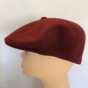 Vintage Kangol Burgundy Mixed Tweed Hat Large